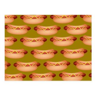 Carte Postale Papier peint de hot dog