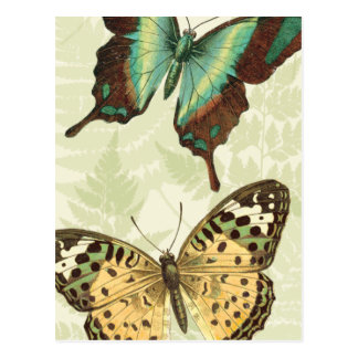 Carte Postale Papillon bleu et jaune