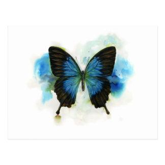 Carte Postale Papillon bleu toute papeterie d'occasion