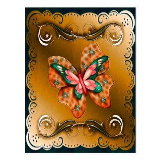 Carte Postale Papillon de Flutterings encadré