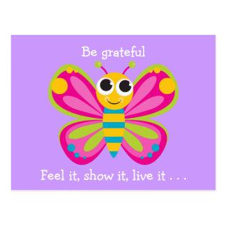 Carte Postale Papillon de gratitude