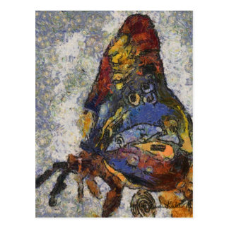 Carte Postale Papillon Monet de Frida Kahlo inspiré