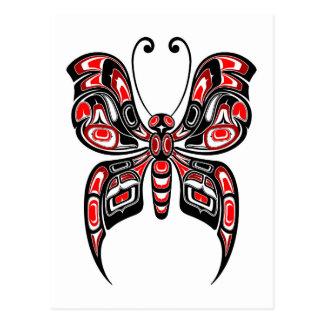 Carte Postale Papillon rouge et noir d'esprit de Haida sur le