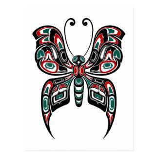 Carte Postale Papillon rouge et vert d'esprit de Haida sur le