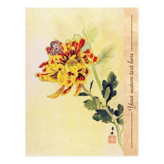 Carte Postale Papillon vintage classique de chrysanthème