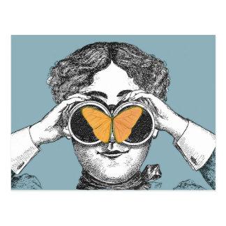 Carte Postale Papillons et jumelles
