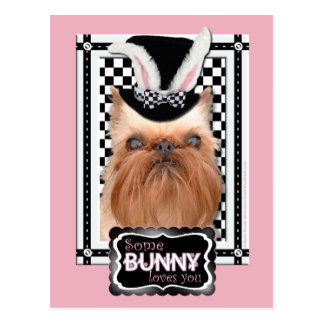 Carte Postale Pâques - un certain lapin vous aime - griffon de