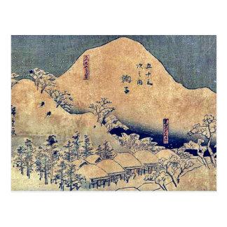Carte Postale par Ando, Hiroshige Ukiyo-e.