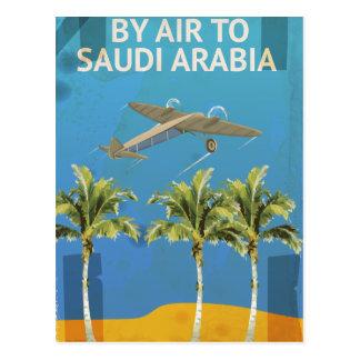 Carte Postale Par avion à l'affiche vintage de voyage de