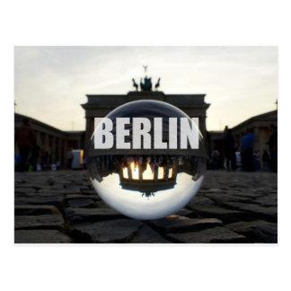 Carte Postale Par la boule de cristal, Porte de Brandebourg