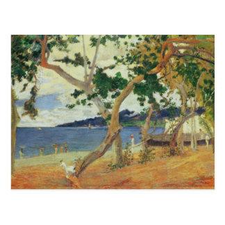 Carte Postale Par le bord de la mer, la Martinique, 1887 (huile