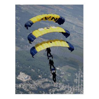 Carte Postale Parachutes de parachutisme