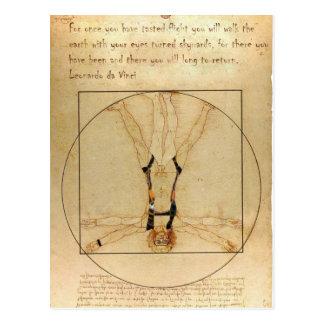 Carte Postale parachutisme de da Vinci