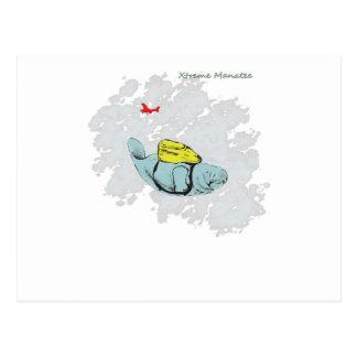Carte Postale Parachutisme de lamantin de Xtreme
