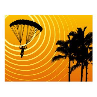 Carte Postale parachutisme extrèmement haut