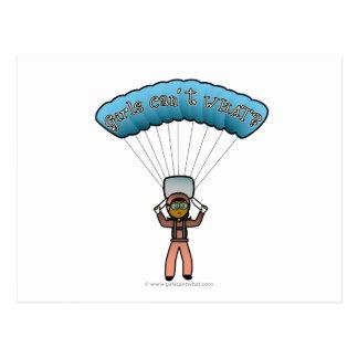 Carte Postale Parachutisme foncé de femme