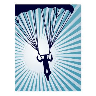 Carte Postale parachutiste extrèmement haut