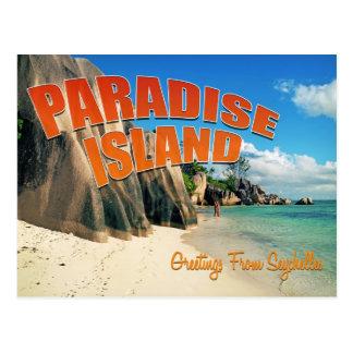 Carte Postale Paradis des Seychelles