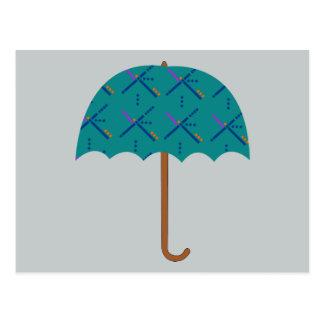 Carte Postale Parapluie de tapis d'aéroport de PDX