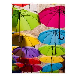 Carte Postale Parapluies colorés