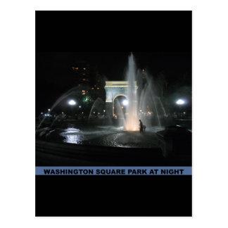 Carte Postale Parc carré de Washington la nuit, NYC
