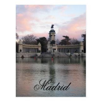 Carte Postale Parc de Retiro, Madrid, Espagne
