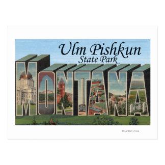 Carte Postale Parc d'état d'Ulm Pishkun, Montana