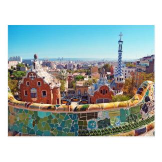 Carte Postale Parc Guell, Barcelone - Espagne