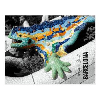Carte Postale Parc Guell de Barcelone Gaudi