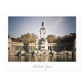 Carte Postale parc Madrid Espagne de retiro