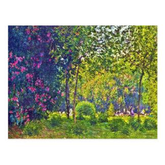 Carte Postale Parc Monceau Claude Monet