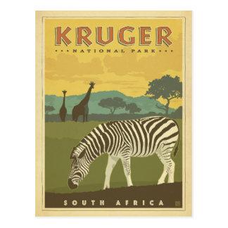 Carte Postale Parc national de Kruger, zèbres de l'Afrique du