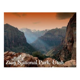 Carte Postale Parc national de Zion, Utah