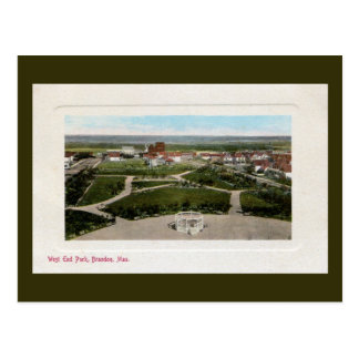 Carte Postale Parc vintage Brandon Manitoba de West End des