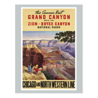 Carte Postale Parcs nationaux de canyon grand