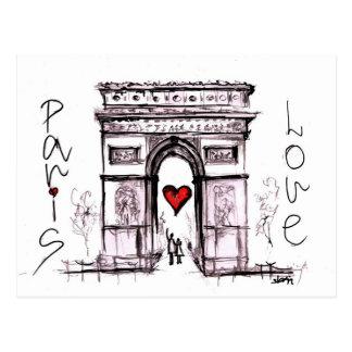 Carte Postale Paris avec amour