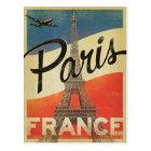 Carte Postale Paris, France - drapeau