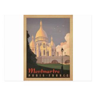 Carte Postale Paris Montmartre Vintage