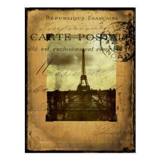 Carte Postale Paris timbré