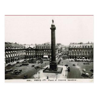 Carte Postale Paris vintage, endroit Vendome