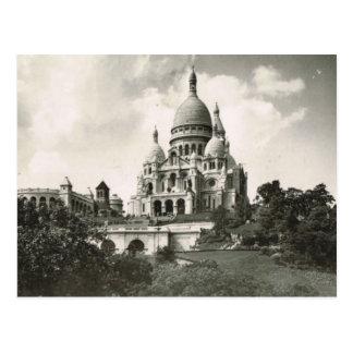 Carte Postale Paris vintage, Montmatre, Sacre Coeur