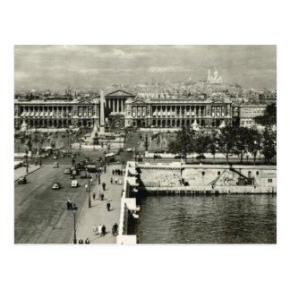 Carte Postale Paris vintage, Paris, Place de la Concorde