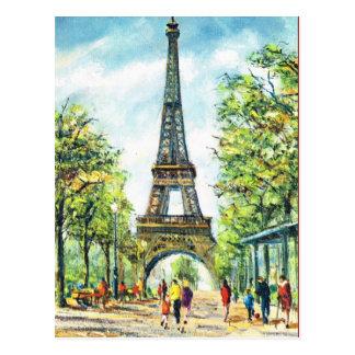 Carte Postale Paris vintage, Tour Eiffel