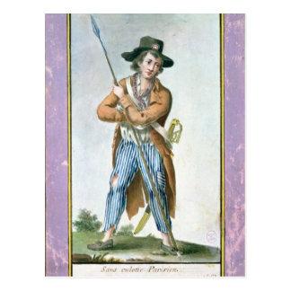 Carte Postale Parisien Sans-culotte