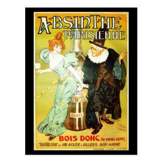 Carte Postale Parisienne d'absinthe
