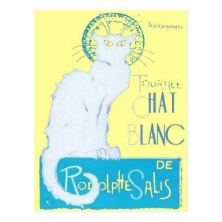 Carte Postale Parodie de Le Chat Blanc de Le Chat Noir