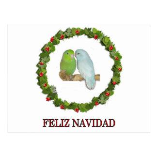Carte Postale Parrotelt Feliz Navidad