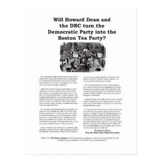 Carte Postale Parti démocrate ou thé de Boston