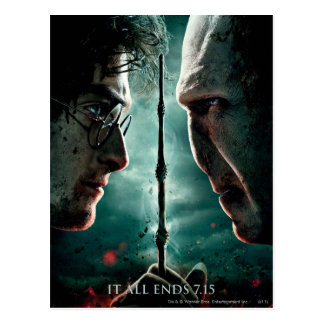 Carte Postale Partie de Harry Potter 7 - Harry contre Voldemort
