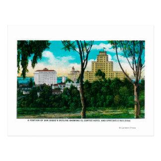 Carte Postale Partie de l'horizon de San Diego montrant l'EL